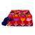 Cotton blend clutch, 'Jubilant Garden' - Crimson Cotton Blend Clutch with Colorful Embroidery (image 2b) thumbail