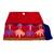 Cotton blend clutch, 'Jubilant Garden' - Crimson Cotton Blend Clutch with Colorful Embroidery (image 2c) thumbail
