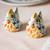Ceramic salt and pepper shakers, 'Bright Hens' (pair) - Majolica Ceramic Chicken Salt and Pepper Shakers (Pair) thumbail