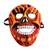 Recycled papier mache mask, 'Fiery Calavera' - Fiery Recycled Papier Mache Skull Mask from Mexico (image 2a) thumbail