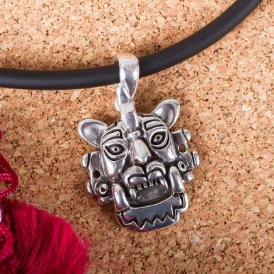 Men's sterling silver pendant necklace, 'Taxco Bat' - Men's Pre-Hispanic Taxco Sterling Silver Pendant Necklace