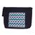 Cotton cosmetic bag, 'Viridian Zigzags' - Zigzag Pattern Cotton Cosmetic Bag from Mexico (image 2a) thumbail