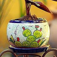Ceramic flower pot, Mexican Memories