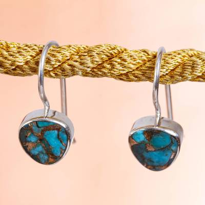 Composite turquoise drop earrings, Gleaming Gems
