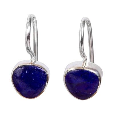 Taxco Lapis Lazuli Drop Earrings from Mexico