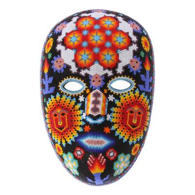 'Jicuri Dance,' mask - Huichol Peyote Mask with beadwork