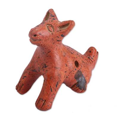 Hairless Dog Ceramic Ocarina Crafted in Mexico