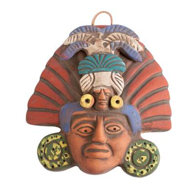 Ceramic Mask of a Pre-Hispanic Priest from Mexico