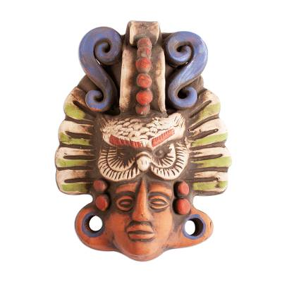 Ceramic Mask of the Mayan God Ah Puch from Mexico