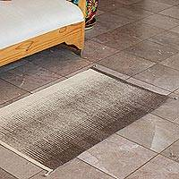 Zapotec wool area rug, 'Eternal Earth' (2x3) - Zigzag Zapotec Wool Area Rug in Brown from Mexico (2x3)