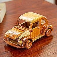 Wood home accent, 'Bochito' - Vintage Volkswagen Beetle Wood Home Accent