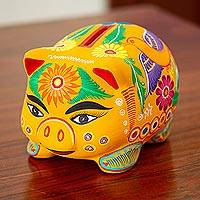 Ceramic bank, 'Fiesta Piggy'