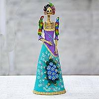 Ceramic sculpture, 'La Catrina Graciela' - Artisan Crafted Catrina Figurine from Mexico
