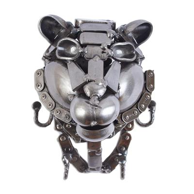 Recycled Metal Tiger Head Key Rack
