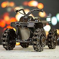 Recycled auto parts sculpture, 'Rustic ATV' - Handmade Recycled Auto Parts ATV Sculpture