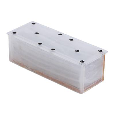 Onyx domino set, 'Relaxing Game' (9 inch) - Ivory Onyx Domino Set Handmade in Mexico (9 Inch)