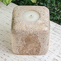 Marble tealight holder, 'Light Cubed'