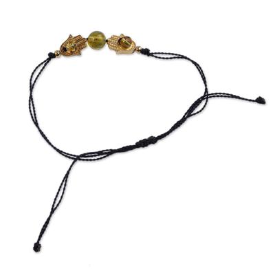 Handmade Mexican Amber & Gold Unity Bracelet