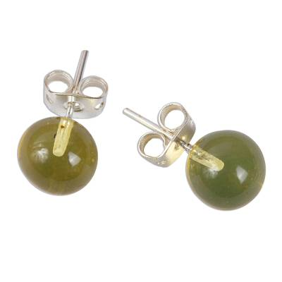 Classic Amber Stud Earrings from Mexico