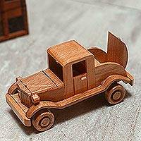 Wood home accent, 'Old Jalopy' - Detailed Old Car Wooden Home Decor Accent