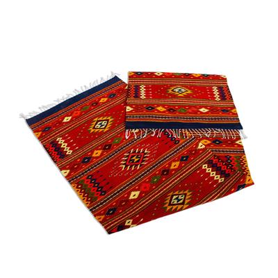 Wool runner, 'Zapotec Vision' (2.5x11) - Long Hand Loomed Wool Runner Rug (2.5x11)