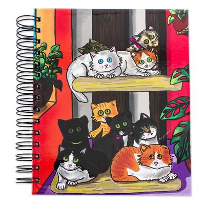 Cat Themed Art Print Spiral Bound Journal