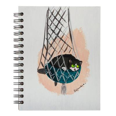 Cat Themed Unlined Paper Mini Journal