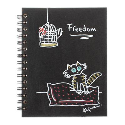 Cute Cat Themed Art Print Mini Journal