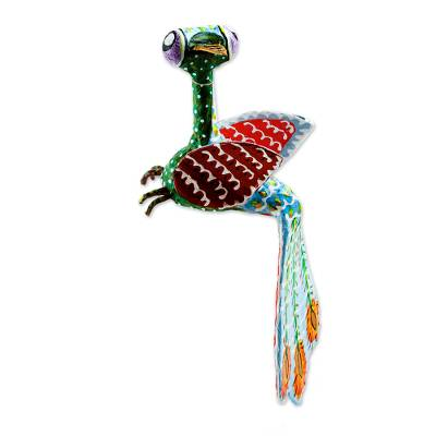 Bird-Like Papier Mache Alebrije Sculpture