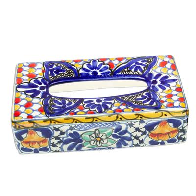 Colorful Ceramic Tissue Box Cover