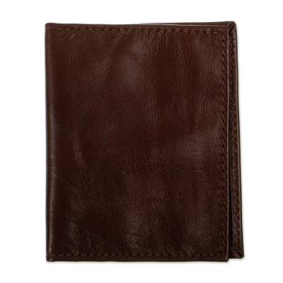 Brown Leather Bifold Card Wallet
