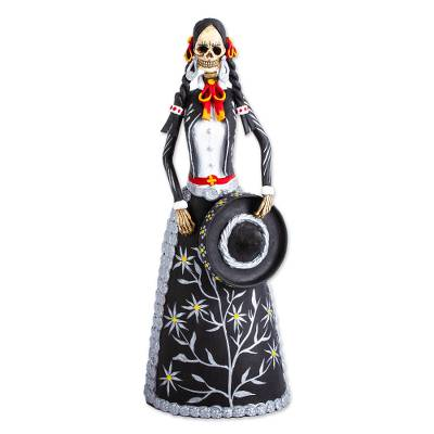 Handcrafted Day of the Dead Ceramic Skeleton Sculpture