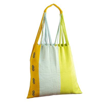 Bright Hand Loomed Cotton Tote Bag