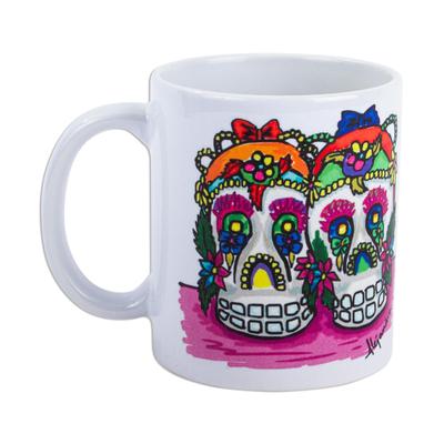Day of the Dead Sugar Skull Ceramic Art Mug
