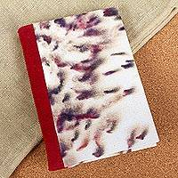 Amate paper journal, 'Garden of Memories' - Hibiscus Flower and Amate Paper Journal