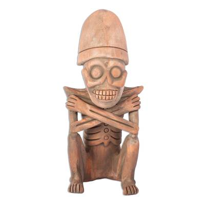 Aztec Archaeology Ceramic Skeleton Sculpture