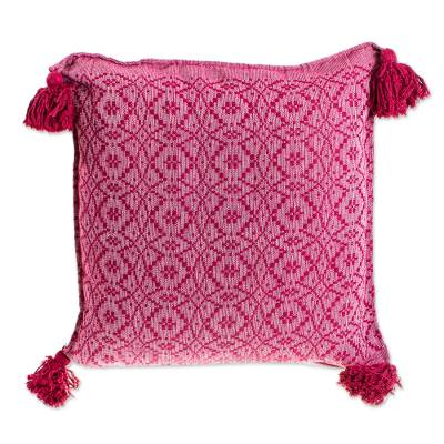 All Cotton Wine Cushion Cover from Mexico