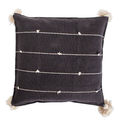 Charcoal Grey Cotton Cushion Cover