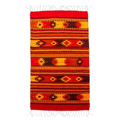 Hand Loomed Zapotec Area Rug from Mexico (2x3)