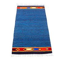Zapotec wool area rug, 'Oaxacan Coast' (2.5x5)