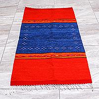 Zapotec wool area rug, 'Oaxacan Winds' (2.5x5)