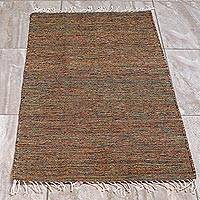 Wool area rug, 'Dance of Colors' (2.5x5) - Multicolored All-Wool Area Rug (2.5x5)