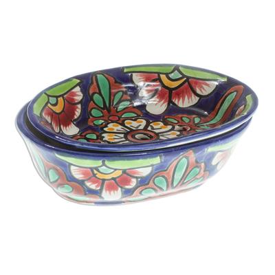 Hand Crafted Talavera-Style Soap Dish
