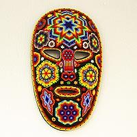 Beadwork mask, 'Peyote Lizards'