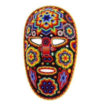 Mexican Huichol Beadwork Peyote Lizards Mask