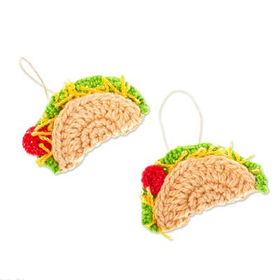 Fun Taco Christmas Ornaments (Pair)