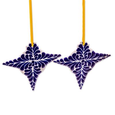 Pi?�??ata-Shaped Ceramic Christmas Ornaments (Pair)