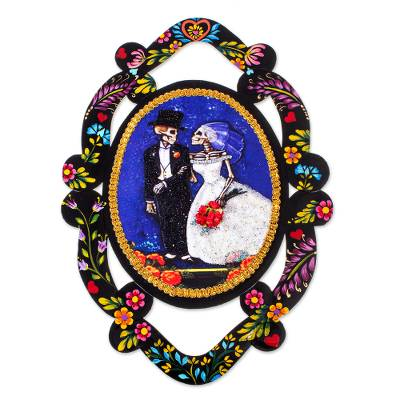 Bride and Groom Catrina Day of the Dead Wall Accent