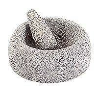 Basalt molcajete, 'Traditional Tastes' - Authentic Basalt Mortar and Pestle