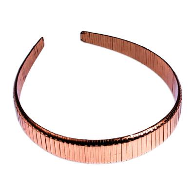 Handcrafted Mexican Copper Headband Diadem
